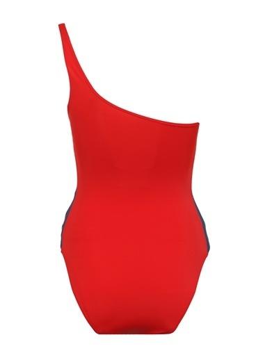 Tommy Hilfiger Kadın One-Pıece Offshoulder Mayo UW0UW01482 Kırmızı